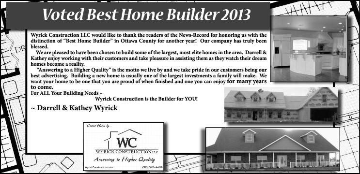 Best New Home Builder in 2013